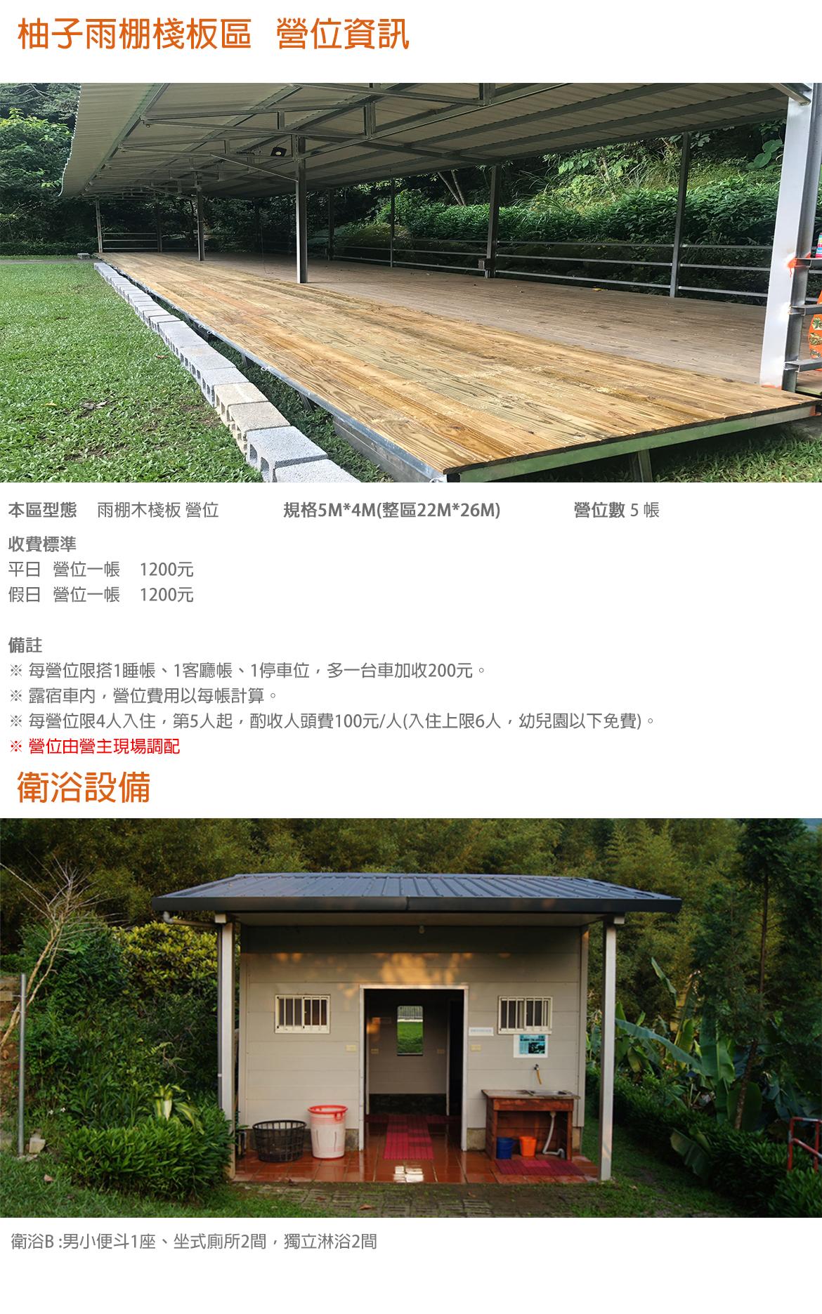 柚子雨棚棧板區