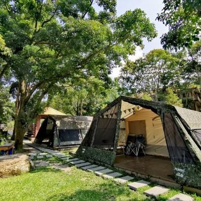 南非狩獵帳-苗栗南庄 一畝田 豪華露營 Glamping