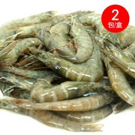 露營食材 南澳海水養殖白蝦(500g*2包/盒)